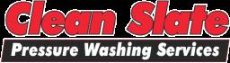 Clean Slate Pressure Washing Logo